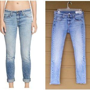 RAG & BONE Jeans, 24, Dre, Skinny, Raw Hems/Frayed